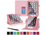 iPad Air 2 Case - roocase Dual View iPad Air 2 2014 Multi-Viewing Stand Folio Case Smart Cover for Apple iPad Air 2 (2014) 6th Generation Latest Model, Pink