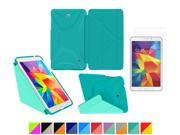 "Galaxy Tab 4 8.0"" Case, rooCASE Origami 3D Slim Shell Case [Turquoise Blue/Mint Candy] Smart Cover Bundle with HD Clear Screen Guard for Samsung Galaxy Tab 4 8.0 (Supports Sleep/Wake Feature)"