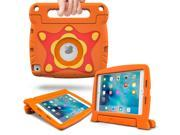 iPad Mini 4 Case, roocase Orb Starglow iPad Mini 4 Kids Case [Glow in the Dark Star Design] Convertible Handle Stand Kid Friendly Protective Cover Case for Apple iPad Mini 4 2015 Model, Orange