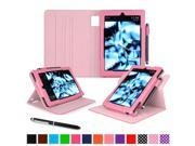 Kindle Fire HD 7 Tablet (2014) Case, roocase 2014 Kindle Fire HD 7 Dual View Folio Case with Sleep / Wake Smart Cover Stand for 2014 Model Fire HD 7 Tablet (4th Generation), Pink