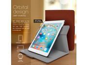 iPad Mini 4 Case, roocase Orb Folio 360 Rotating PU Leather Case Cover for Apple iPad Mini 4 2015 / Mini 3 2 1 [Supports Sleep/Wake Feature] Brown