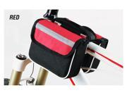Red Bike Bicycle Front Top Head Tube Bag Pocket Pockets Outdoor Sports Cycling Mesh Meshy Double Twin Bags