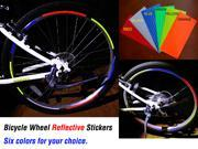 New Fluorescent MTB Cycle Cycling Bike Bicycle Wheel Rim Stickers Reflective Decal Tape Signs yellow 9SIA2S21X25896