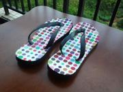 New Sweet Candy Colored Flip Flops Sandals Thongs Slippers Open Toe Stylish summer shoes casual beach EVA base flat foam SIZE XL US SIZE 11 12