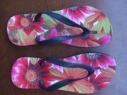 New Flip Flops Sandals Thongs Slippers Open Toe Stylish summer shoes casual beach EVA base flat foam SIZE M US SIZE 7.5 8.5