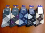 5 Pairs NEW Cotton Wool Men Men's Socks hosiery clothing apparel Stripes for Spring Autumn Winter