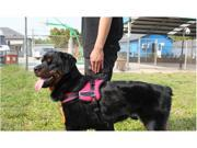 New Adjustable Padded Soft Durable Harness For Dog Side Buckle Reflective Stitching Hand Grip Red S
