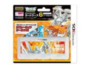 Pokemon Pocket Monster Card Case 6 Seal Set for Nintendo 3DS White Kyurem