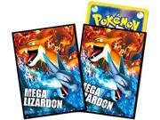 Japanese Pokemon Mega Lizardon Sleeves 32ct NEW!