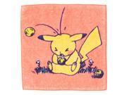 Pokemon Center original hand towel Pikachu in the farm