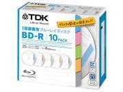 TDK Bluray Disc 25 gb BD-R 4x Index Series HD Discs 10 Pack in Jewel Cases 9SIABMM4SX1843