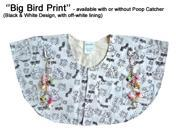 Protective Shoulder Cape for Bird Owners Big Bird with Poop Catcher