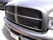 2002-2005 DODGE RAM UPPER GRILLE INSERT (4 Pieces) 1500,2500,3500 (Gloss Black Finish)