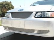 1999-2004 FORD MUSTANG GRILLE UPPER and LOWER KIT 3pc (Silver Finish)