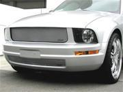 2005-2009 FORD MUSTANG GRILLE UPPER and LOWER (V6 Model) will not fit pony light grille package (Silver Finish)