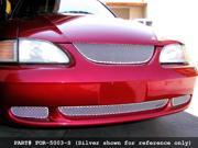 1994-1998 FORD MUSTANG GRILLE UPPER and LOWER KIT 3pc (Black Finish)