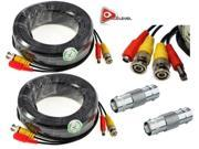 Image of ACELEVEL 2 PACK PREMIUM 100Ft.THICK BNC EXTENSION CABLES FOR ZMODO SYSTEMS BLACK COLOR