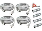 Image of ACELEVEL 4PK RG59 PREMIUM UL LISTED 100FT CAB FOR SDI DEFENDER SYSTEMS WHITE COLOR