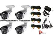 Lorex 720P 1MP up to 130Ft NV IP66 4PK Bullet Camera
