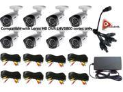 Lorex 720P 1MP up to 130Ft NV IP66 8PK Bullet Camera