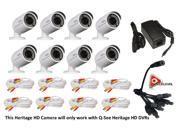 Q-See 2MP 24IRs WeatherProof IP66 HeritageHD 8PK Camera