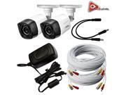 Q See 720p HD Weatherproof Bullet Camera 2 Pack with 60ft BNC Cables QCA7207B