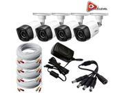 Q-See 720p HD Weatherproof Bullet Camera 4 Pack with 60ft BNC Cables - QCA7207B