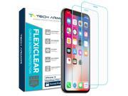 Tech Armor New 2017 Apple iPhone X (iPhone 10) Screen Protector [Wet Applied] Thermoplastic Film (TPU) Complete Curved Edge Display Coverage, Bubble Free, HD Cl 9SIA2TR6MV5927