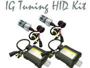 IG Tuning H1 3K 3000K 35W Slim Digital Ballast HID Xenon Conversion Kit Single Beam For Headlights or Fog Lights, Yellow/Gold Color