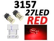 IG Tuning 3157 27-SMD Red LED Bulbs Reverse Light 3156 3757 4114 4157 Backup Daytime Running Light (DRL), Turn Signal Light, Corner, Stop, Parking, Side Marker, Tail & Back up Lights 12V