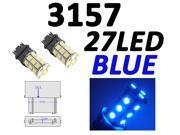 IG Tuning 3157 27-SMD Blue LED Bulbs Reverse Light 3156 3757 4114 4157 Backup Daytime Running Light (DRL), Turn Signal Light, Corner, Stop, Parking, Side Marker, Tail & Back up Lights 12V