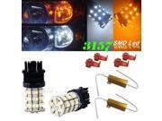IG Tuning 3157 Switchback Dual Color White Amber LED Bulbs Light & 3156 3757 4114 4157 Daytime Running Light (DRL), Turn Signal, Corner, Stop, Tail & Back up Lights 12V & 50W 6OHM LED Load Resistor