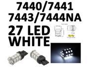 IG Tuning 27-SMD White 7440 7441 7443 7444 992A T20 LED Replacement Bulbs Reverse, Turn Signal, Corner, Stop,  Parking, Side Marker, Tail and Backup Lights 12V