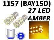 1157 BAY15D 27 SMD 5050 Amber Yellow Tail Turn Signal 27 LED Car Light Bulb Lamp by Autolizer