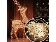 Warm White - 100 LED Fairy String Lights Lamp for Christmas Tree Holiday Wedding Party Xmas Decoration Halloween Showcase Displays Restaurant or Bar and Home Garden