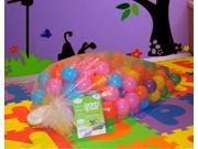 """EnviUs Cushy Pit Balls - Royals 200 : """"Phthalates Free"""" 200 Count 6.5 CM in Plastic Bag : 7 Colors (20 Red, 20 Orange, 20 Yellow, 20 Green, 20 Purple, 50 Blue, 50 Pink)"""