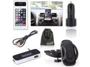 EEEKit for Phone Car CD Dash Slot Mount Holder Dock+FM Transmitter+Car Charger