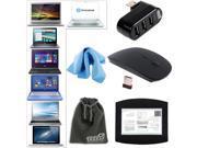 EEEKit Basic Accessory Kit for Laptop Wireless Mouse+USB Hub Spiltter+Mouse Pad