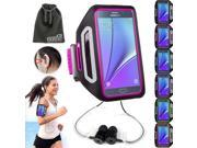 EEEKit 2-in-1 Sports Kit for Smart Phone, Premium Sports Armband Gym Running Jogging Case + Earphones W/Ear Hook / Fits Samsung Galaxy Note 5 / 4 / S6 Edge Plus