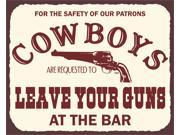 Cowboys Leave Guns Vintage Metal Art Western Retro Tin Sign 9SIA2UB1183696