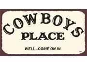 Cowboys Place Vintage Metal Art Western Retro Tin Sign 9SIA2UB1183697