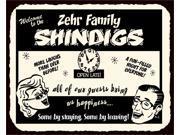 Family Shindigs Custom Name Vintage Metal Retro Tin Sign 9SIA2UB17N2071
