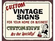 Custom Vintage Metal Retro Tin Sign 9SIA2UB17N2037