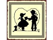 Childs Love Vintage Metal Art Valentine Retro Tin Sign