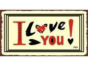 I Love You Vintage Metal Art Valentine Retro Tin Sign