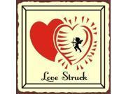 Love Struck Vintage Metal Art Valentine Retro Tin Sign