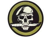 Rothco Military Skull / Knife Patch - New - Velcro Back