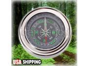 Hand-held Silver Steel Stainless Precise Compass Navigation for Travel Camping hiking