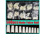 500pcs False Nails Tips French Design Acrylic UV Gel DIY Extension