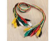 10x 50cm Double-ended Crocodile Clips Cable Connecter Alligator Jumper Wire Tester Testing Test Leads